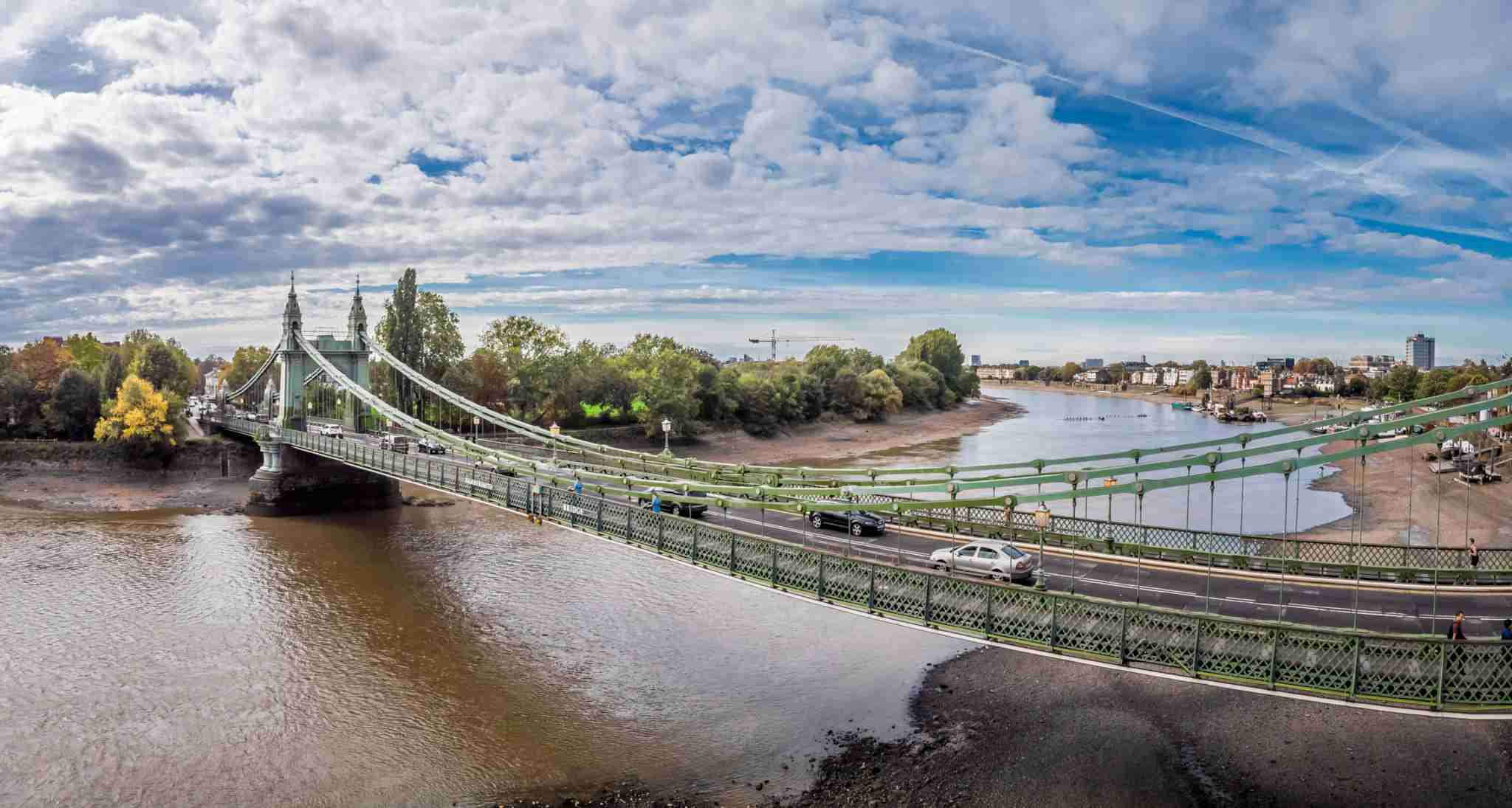 Hammersmith bridge at low tide, London, UK. Photo by Alexey_Fedoren / Getty Images