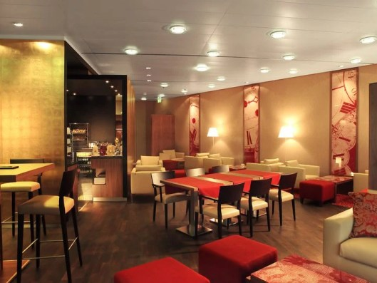 Concierge level guests have access to the Executive Club Lounge at the Zurich Marriott.