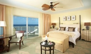 Diamond Head Ocean Front King guest room at The Kahala Hotel & Resort.
