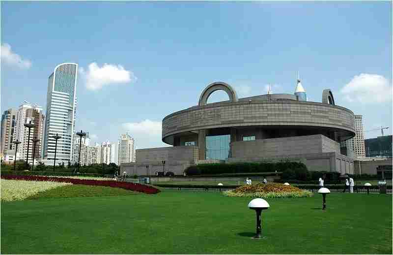 The exterior of the Shanghai Museum on People