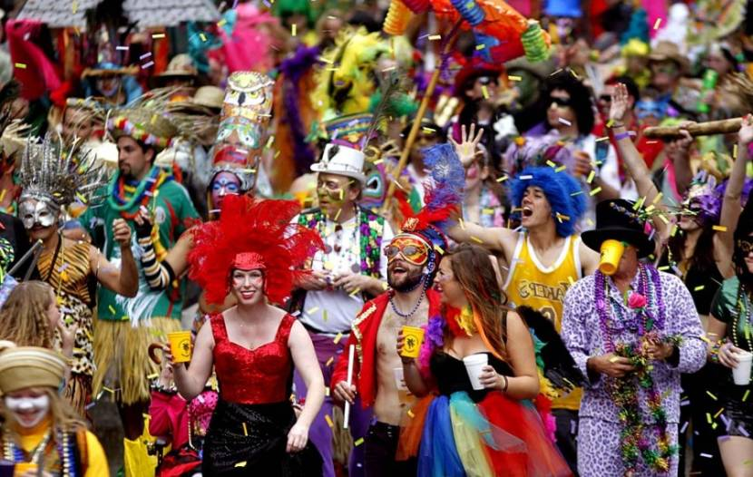 Hundreds of thousands flock to New Orleans for Mardi Gras.