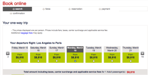 A one-way ticket in business class would be an astonishing $8,800!