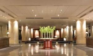 Lobby area at the Regent Taipei.
