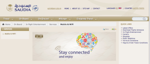 Saudi Arabian Airlines offers WiFi on all its A330