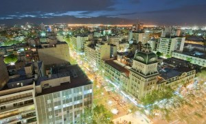 Mendoza at night.