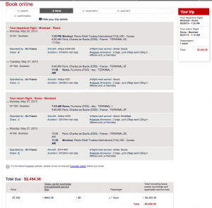 This Air France fare is cheap as it is and since taxes are high, you might want to save your miles for something else.