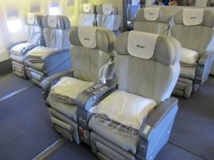 My Business class seat on Alitalias 777 when  I flew it last