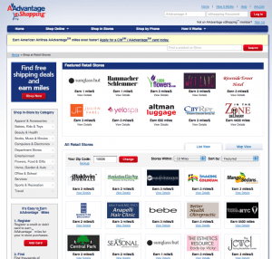Some online shopping portals like American