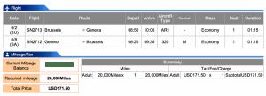 Brussels Airlines BRU-GVA Economy Award