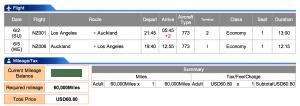 Air New Zealand LAX-AKL Economy Award