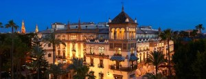 Exterior of the Hotel Alfonso XIII.