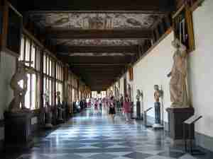 The Uffizi is one of Florence's most famous museums.
