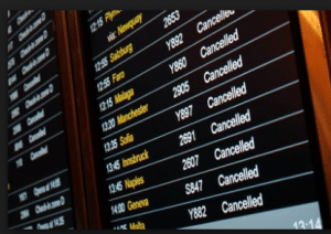 A board full of canceled flights is every traveler