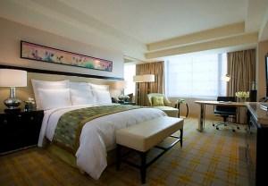 King guest room at the JW Marriott Hotel Beijing.