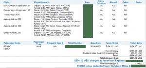 US Airways Australia miles