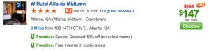 The same room is $147 om Priceline.com, but then you don't earn miles or Starpoints.