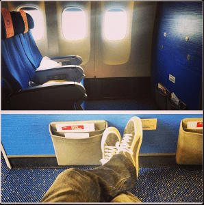 I was able to stretch out on my second flight.