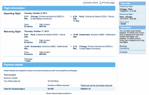 Air France Promo awards are only 25,000 miles round-trip from the US to Europe.