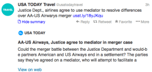 Is the American and US Airways merger finally heading towards a resolution?