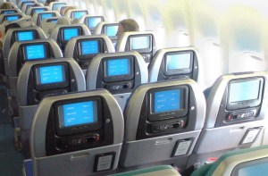 Cathay's economy cabin is roomier.