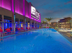 The colourful Aloft Hotel