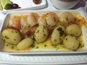 Shrimp and potatoes in