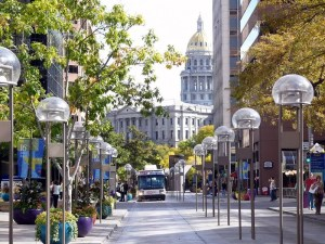 The 16th Street Mall in Denver.
