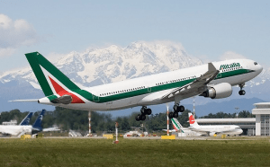 Alitalia flies from the US to Milan