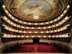 La Scala Opera House, designed by architect Giuseppe Piermarini in the late 1700