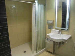 The shower suite.