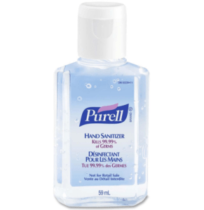 A squirt of Purell can ward off pesky germs.