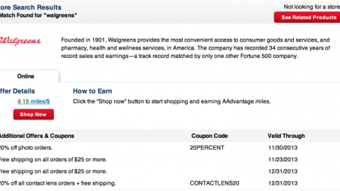 32e839d52 Awesome Deal: 15 AAdvantage Miles Per Dollar Spent at Walgreens ...