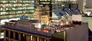 The Rooftop Cinema offers dining, drinks, movies and fresh air.