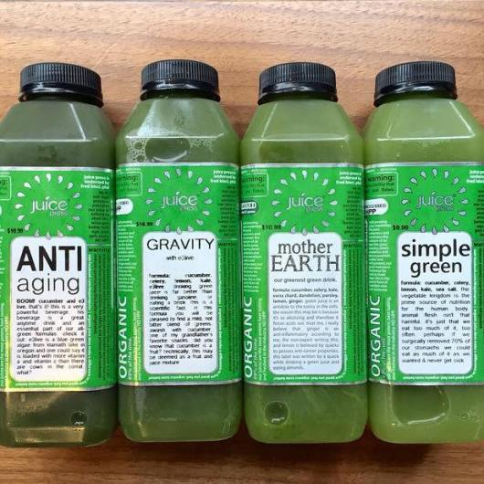Green juices from New York City's Juice Press