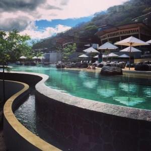 Sleek pools at the Andaz Papagayo.