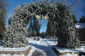Check out the town's famous antler arch.