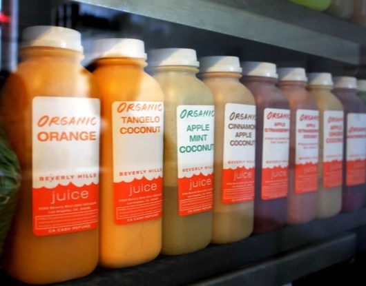 Part of the lineup at Beverly Hills Juice