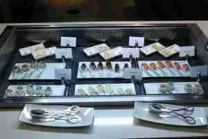 The sushi was okay.