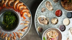Raw bar offerings at Reef