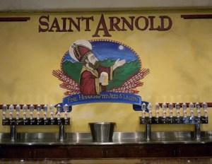 Taps at Saint Arnold Brewing Company