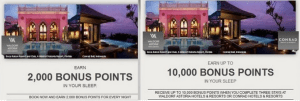 Use both of these promos at once to get lots of bonus points.