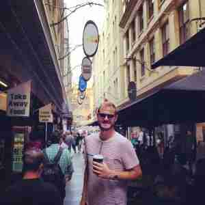 First stop in Melbourne: Desgraves St to see what Melbourne