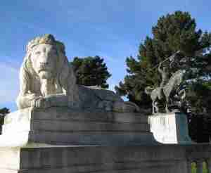 Monuments gracing the Legion of Honor