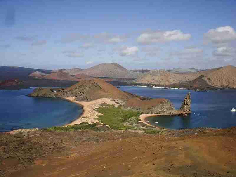 The rugged Bartolome (Bartholomew) Island in the Galapagos - Photo by Pete Gene