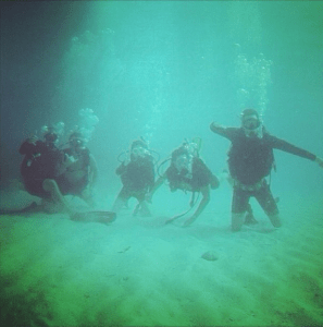 One of my first training dives, at pennebaker in Key Largo