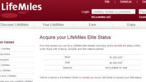 You can purchase Silver or Gold Avianca Elite status.