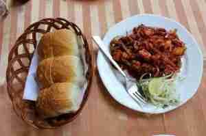Chili-fried Goan choriço sausage