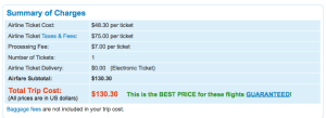 Priceline charges