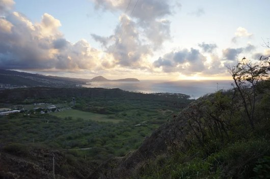 A view of the Pacific from the top of Diamond Head