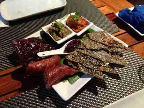 The Lao sampler platter at Tamarind.